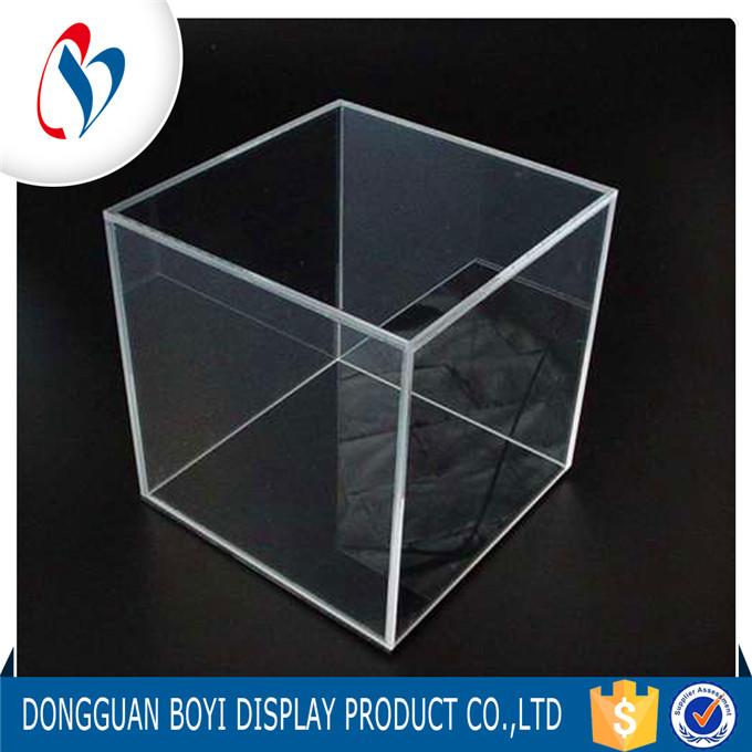 5 side acrylic clear storage box