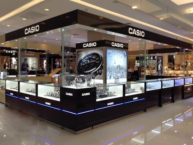 卡西欧卖场展示架定制案例