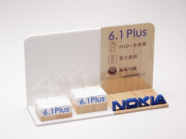 亚克力手机展示台 BY-DZ01