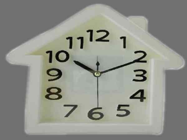 白色亚克力座钟